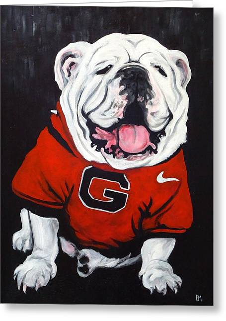 Mascot Greeting Cards - Top Dawg Greeting Card by Pete Maier