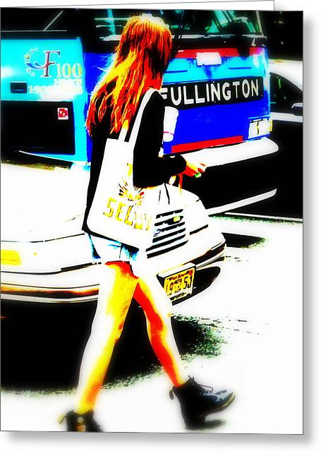 Top Model Greeting Cards - Top Model in Manhattan Greeting Card by Funkpix Photo Hunter