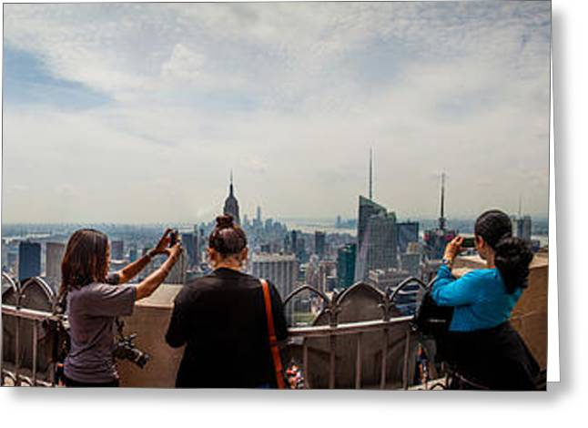 Lifestyle Photographs Greeting Cards - Top Of The Rock Experience Greeting Card by Az Jackson