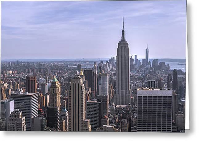 Newyorkcity Greeting Cards - Top of the Rock  Greeting Card by Kelly