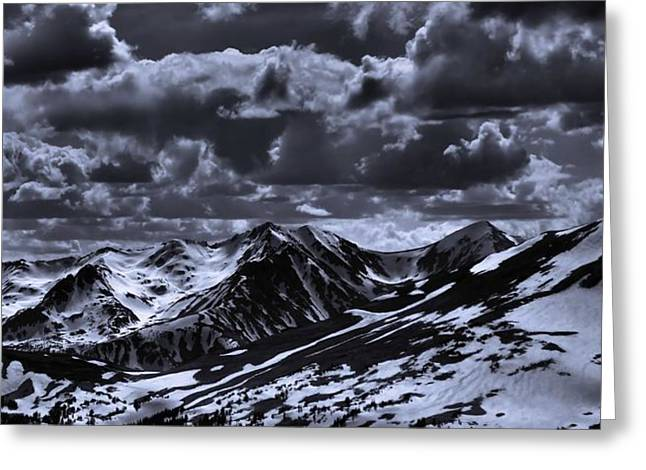 Black Top Greeting Cards - Top Of The Rocky Mountains From Trail Ridge Road Greeting Card by Dan Sproul