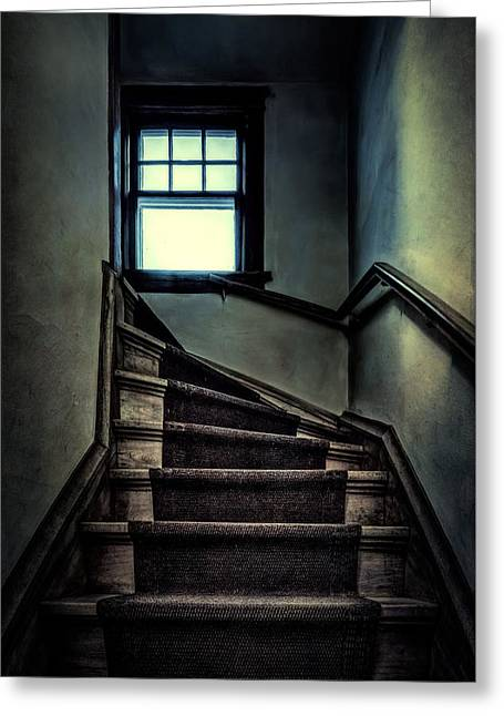 Top Of The Stairs Greeting Card by Scott Norris