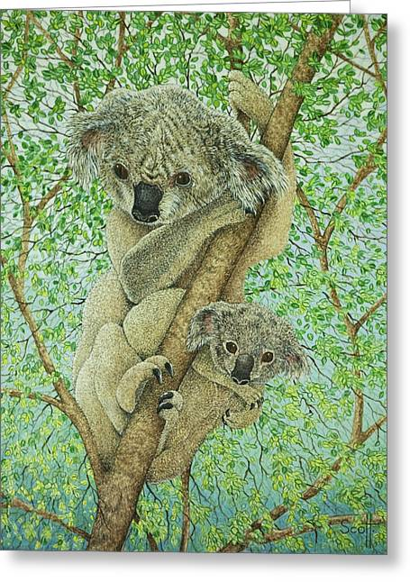 Top Of The Tree Greeting Card by Pat Scott