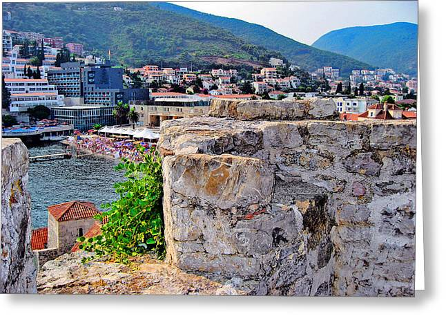 Cristoforo Greeting Cards - Top View. Budva. Montenegrin. Greeting Card by Andy Za