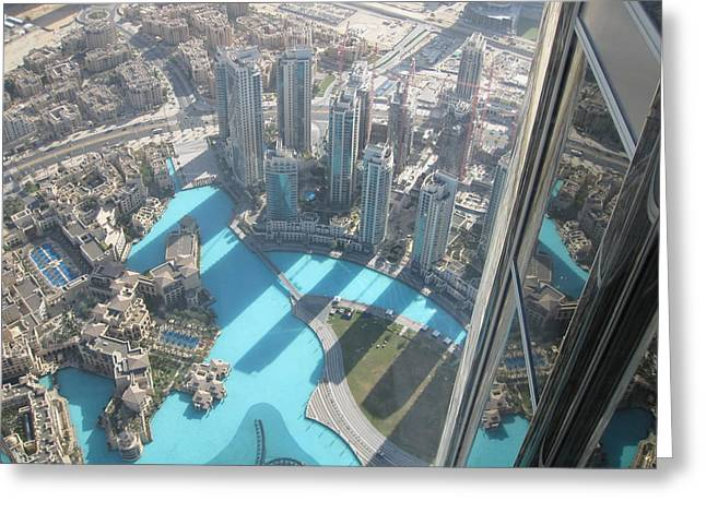 Jeremy Renner Greeting Cards - Top View. Burj Khalifa.  Greeting Card by Andy Za