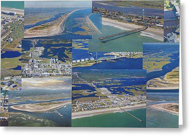 Topsail Island History From Above  Greeting Card by Betsy Knapp