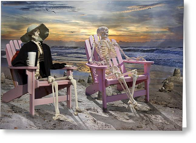 Bone Structure Greeting Cards - Topsail Tales Greeting Card by Betsy C  Knapp