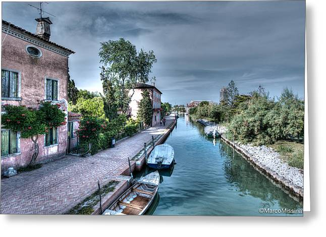 Main Street Greeting Cards - Torcello Main Street Greeting Card by Marco Missinato