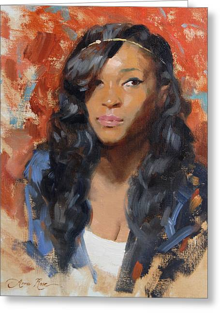 Tori Portrait Demo Greeting Card by Anna Rose Bain