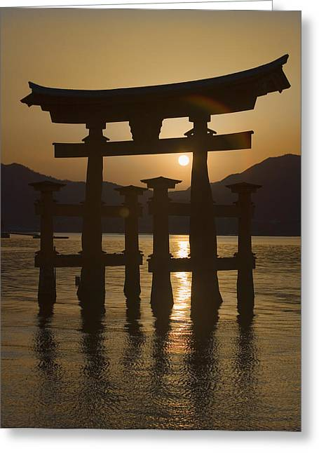 Floating Torii Greeting Cards - Torii Greeting Card by Karen Walzer