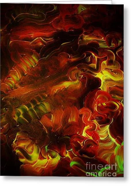 Torment Paintings Greeting Cards - Torment Greeting Card by Chris Brightwell