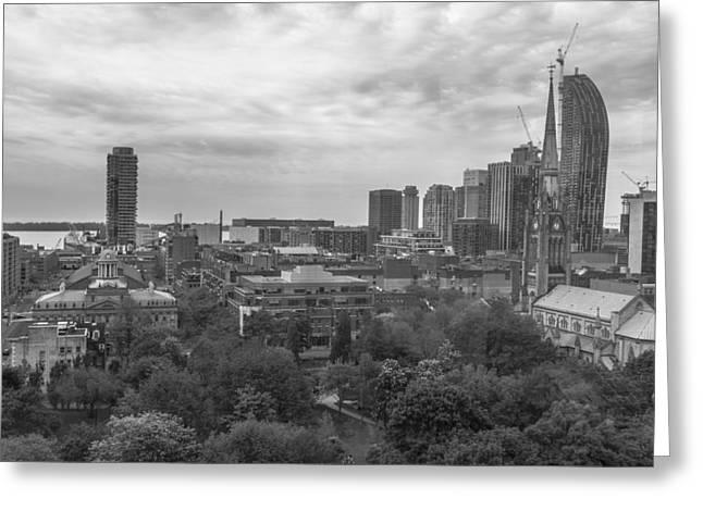 John Mcgraw Photography Greeting Cards - Toronto cityscape from above Greeting Card by John McGraw