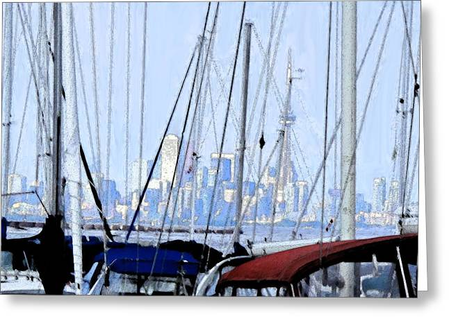 Masts Greeting Cards - Toronto Impressions From Port Credit Greeting Card by Ian  MacDonald