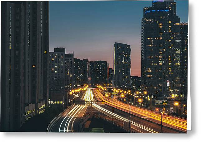 Road Travel Greeting Cards - Toronto Night Lights Greeting Card by Verne Ho