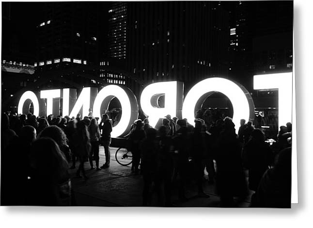 Toronto Nuit Blanche Greeting Card by Valentino Visentini