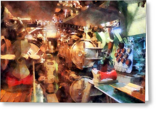Torpedo Room Greeting Card by Susan Savad