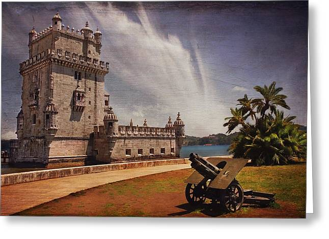 Torre De Belem Lisbon Greeting Card by Carol Japp