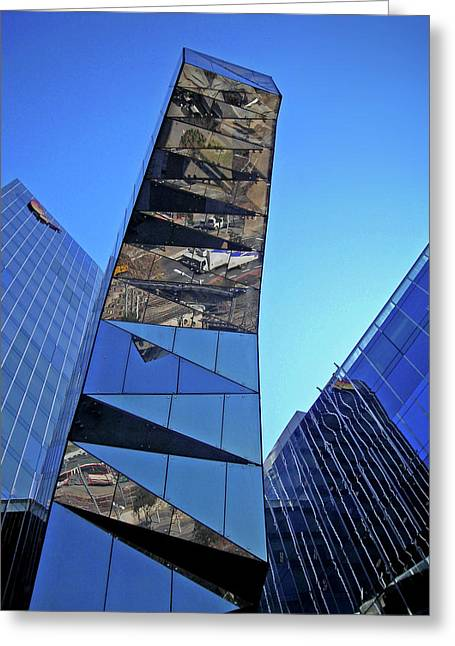 Spiegelung Greeting Cards - Torre Mare Nostrum - Torre Gas Natural Greeting Card by Juergen Weiss