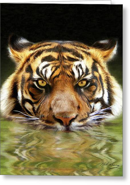 Realistic Digital Art Greeting Cards - Torrent Greeting Card by Bill Fleming