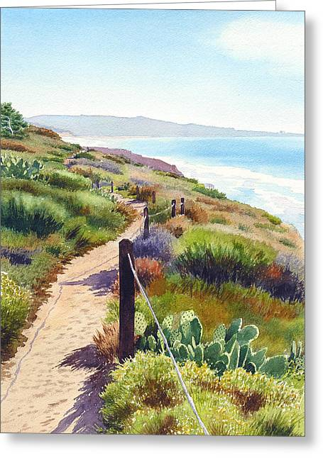 Southern California Greeting Cards - Torrey Pines Guy Fleming Trail Greeting Card by Mary Helmreich