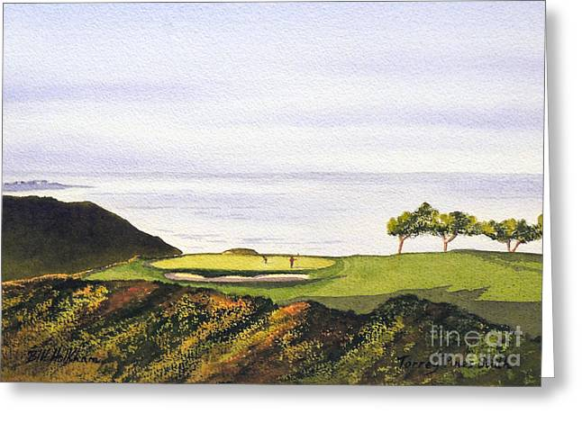Us Open Greeting Cards - Torrey Pines South Golf Course Greeting Card by Bill Holkham
