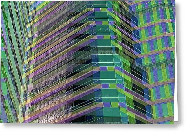 Abstract Angles Greeting Card by Jenny Revitz Soper