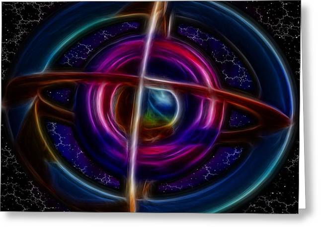 Experiment Greeting Cards - Torus Electrified Greeting Card by Mario Carini