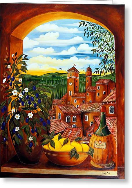 Chianti Greeting Cards - Toscana Greeting Card by Roberto Gagliardi