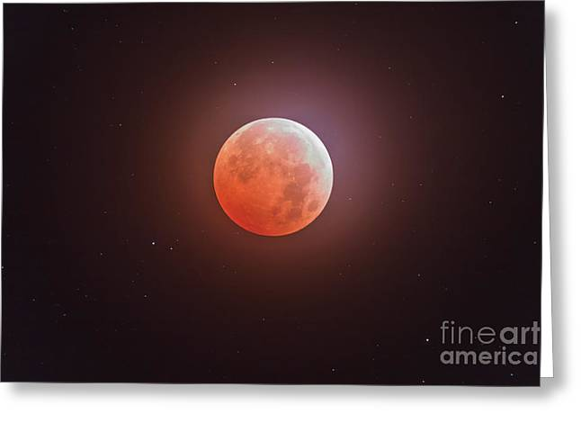 Opposition Greeting Cards - Total Eclipse Of The Moon Greeting Card by Alan Dyer