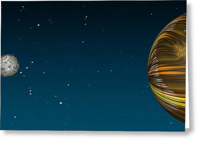 Fractal Eclipse Greeting Cards - Total Eclipse Greeting Card by Steve Purnell