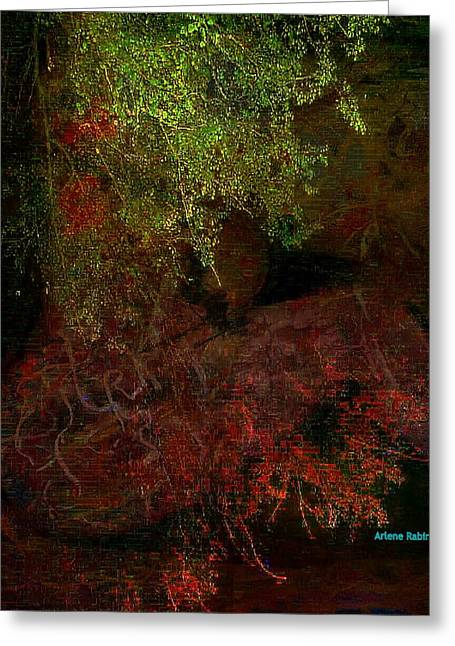 Recently Sold -  - Abstract Digital Pastels Greeting Cards - Total Immersion- Tevilah 1 Greeting Card by Arlene Rabinowitz