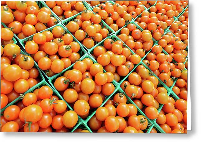 Italian Market Greeting Cards - Totally Tomato Greeting Card by Todd Klassy