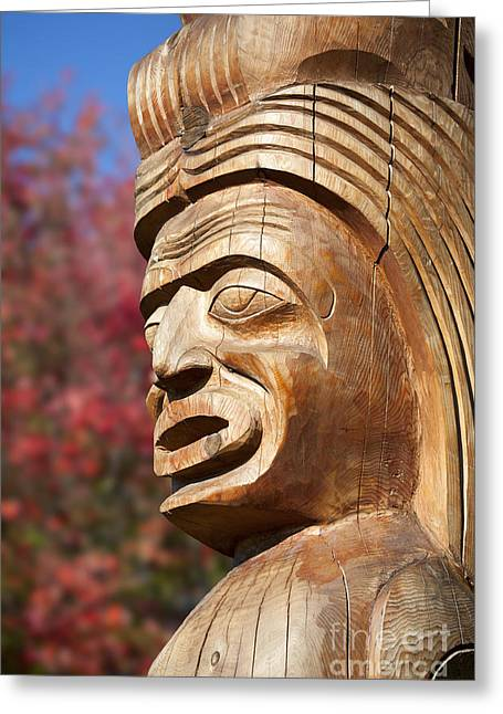 Wood Carving Greeting Cards - Totem I Greeting Card by Chris Dutton