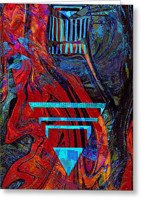 British Columbia Mixed Media Greeting Cards - Totem Pole Greeting Card by Anne Weirich