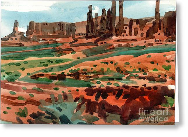 Navajo Tribal Park Greeting Cards - Totem Poles Greeting Card by Donald Maier
