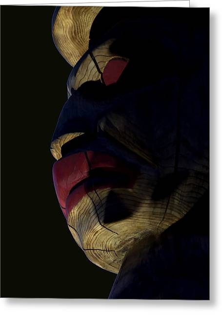 Cedar Key Photographs Greeting Cards - Totem Sentinel Greeting Card by Barbara  White