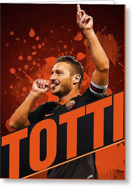 Totti Greeting Card by Semih Yurdabak