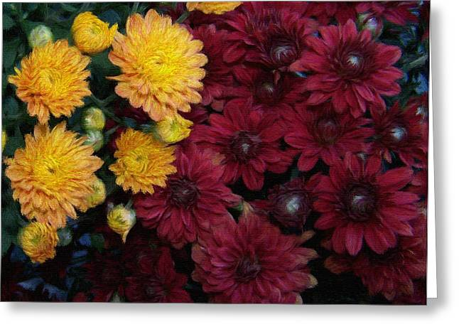 Botanicals Pastels Greeting Cards - Touch of fall Greeting Card by Evelyn Patrick