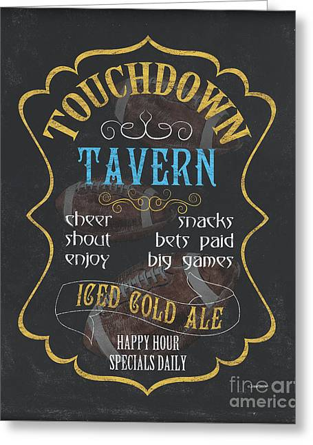 Touchdown Tavern Greeting Card by Debbie DeWitt