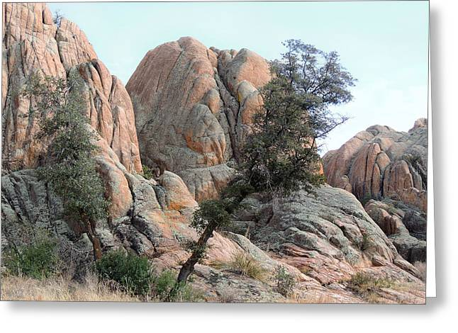 Carefree Cowboy Greeting Cards - Tough Terrain Greeting Card by Gordon Beck