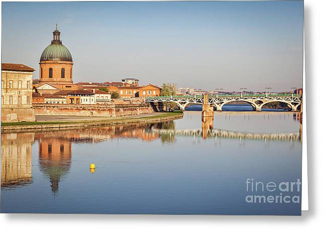 Toulouse Reflection Greeting Card by Colin and Linda McKie