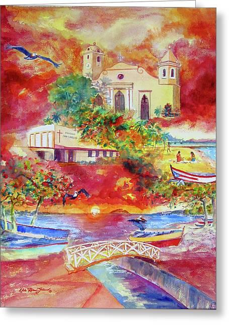 Tour Around Aguadilla Puerto Rico Greeting Card by Estela Robles