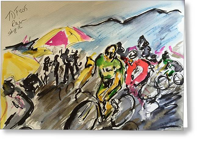 France Sculptures Greeting Cards - Tour de france stage 12 Greeting Card by Garth Bayley
