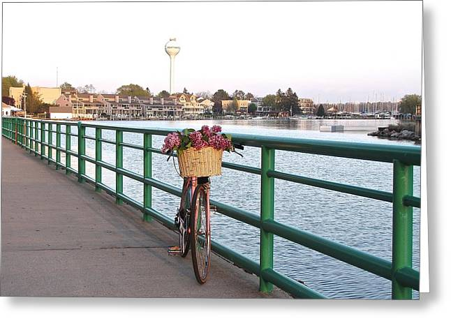 Tour De Lilacs In Pentwater Michigan Greeting Card by Jane Greiner