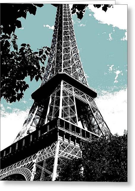 Eifel-turm Greeting Cards - Tour Eiffel Greeting Card by Juergen Weiss