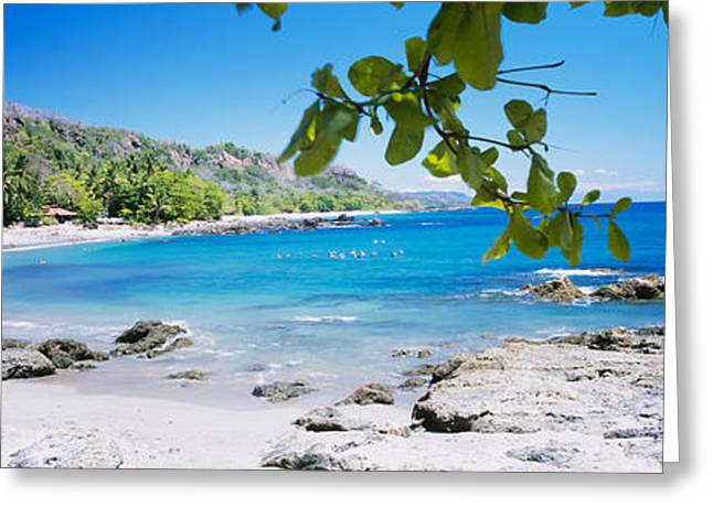 Tourist On The Beach, Montezuma, Costa Greeting Card by Panoramic Images