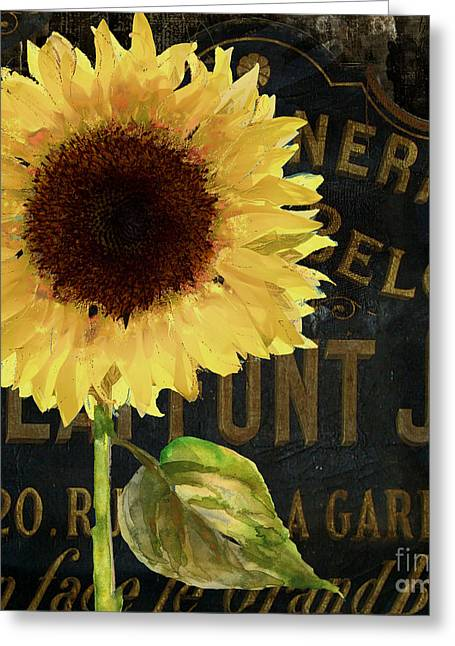 Tournesols Yellow Sunflowers Greeting Card by Mindy Sommers