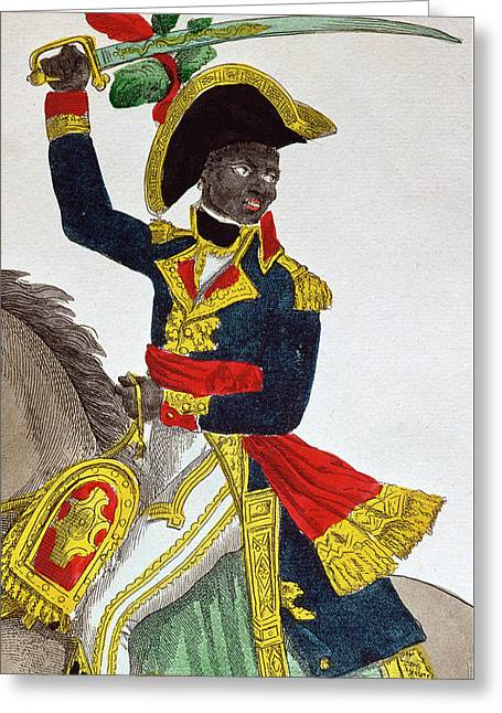 Uniform Drawings Greeting Cards - Toussaint Louverture Greeting Card by French School