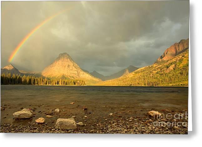 Tow Medicine Sunrise Rainbow Greeting Card by Adam Jewell