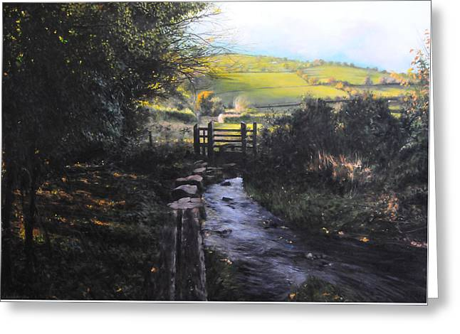 Towards Llanferres Greeting Card by Harry Robertson